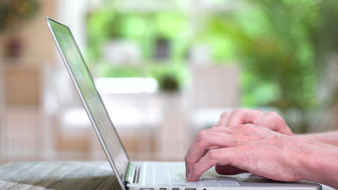 Person typing on a laptop Footage