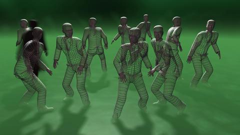 Criminal activity. 3d animation. Dark shadow figure… Stock Video Footage