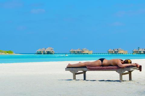 tropical beach Maldives Photo
