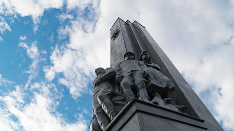 11 June 2018. Russia. The City Of Domodedovo. Day. Obelisk of Glory to Footage