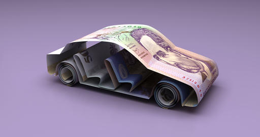 Car Finance with Colombian Pesos Animation