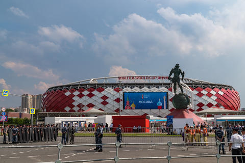 23 June 2018. Russia. Moscow. View stadium Spartak during the match Belgium - フォト