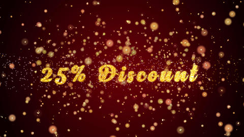 25% Discount Greeting card text shiny particles for celebration,festival Animation