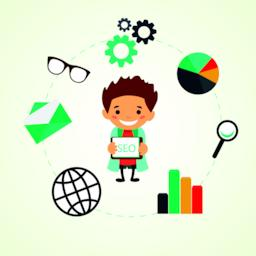 Flat illustration, SEO optimization Vector