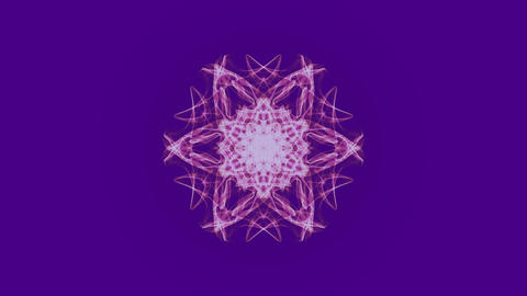 Live fractal mandala in watercolor design on ultraviolet background. Decorative Animation