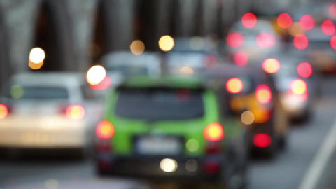 Blurred traffic scene at dusk .Time Lapse Footage