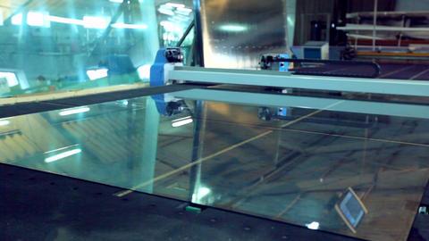 Line production of plastic windows GIF