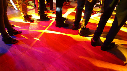 Male dancers Legs In the Set Footage