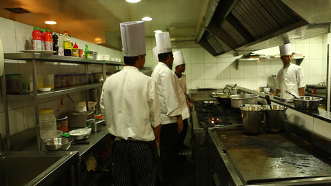 restaurant kitchen Footage