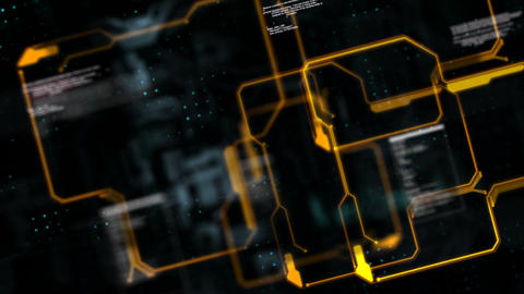 Abstract background circuit electronic line for technology concept with shallow depth of field dark Live Action