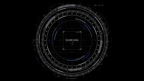 Circle HUD Display CG動画