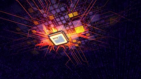 Super CPU transmits energy signals around Animation
