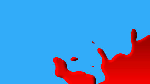 Animated blood creeping diagonally on blue surface Animation