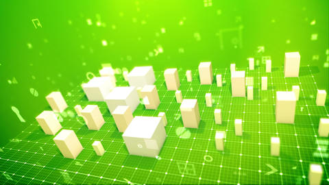 Rectangular business indexes in the salad backdrop Animation