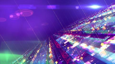 Slanting colorful space design construction Animation