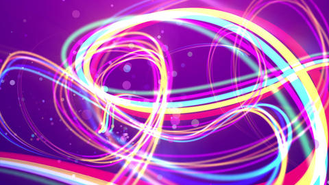 Colorful rainbow strokes in the violet backdrop Animation