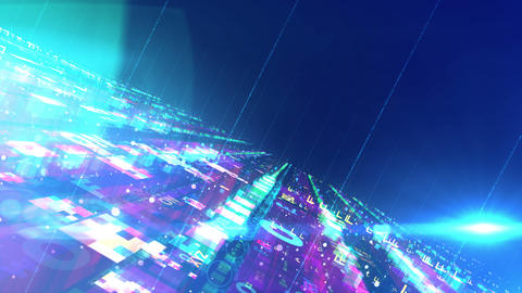Innovative colorful space design structure Animation