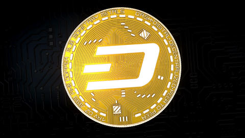 Coin of DASH cryptocurrency GIF