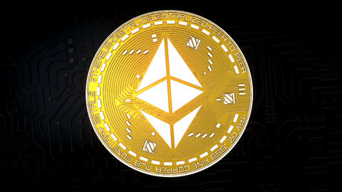 Coin of ETHEREUM cryptocurrency GIF
