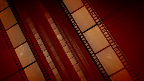 Vintage Film Tape Placed Askew Move Animation