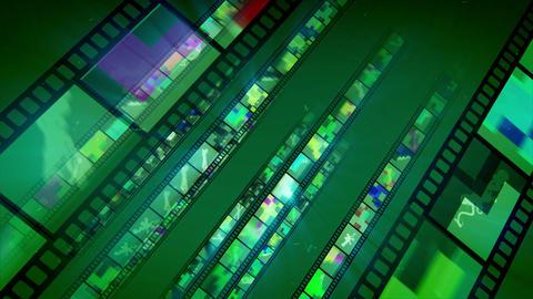 Shimmering Diagonal Film Tape Movement Animation