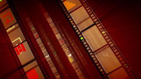 Brown Diagonal Film Tape Running Animation