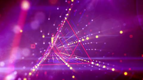 Virtual triangular neon tunnel moving Animation