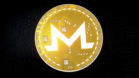 Coin of MONERO cryptocurrency GIF