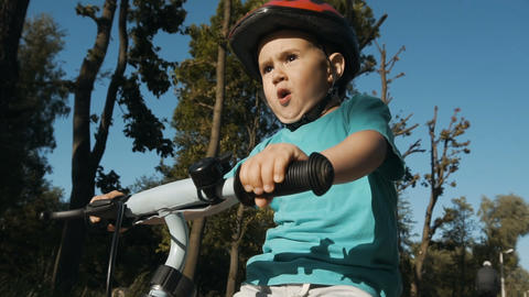 Boy Riding Bicycle Footage