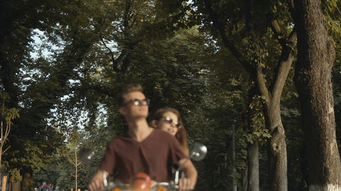 Hipster Couple In Park Footage