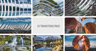 10 Transitions Pack After Effects Template