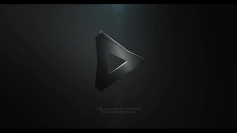 Origami Dark Logo After Effects Template