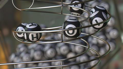 Lotto balls make up CHOICE word Live Action
