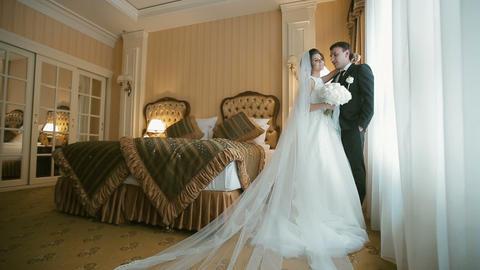 Beautiful Wedding Couple Footage