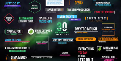 Minimal Titles For Final Cut Pro X Plantilla de Apple Motion