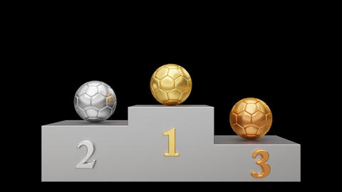 Soccer Pedestal. Looped Animation