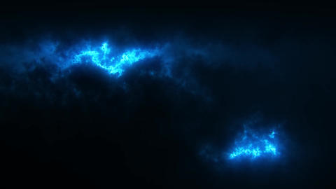 Blue Sci-Fi Sky Clouds Loopable Motion Graphic Background Animation