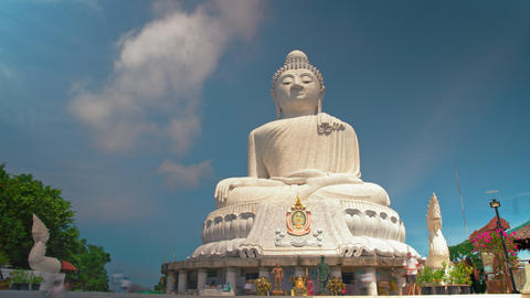 Big Buddha, the religious shrine of Asia. temple statue. timelapse Footage