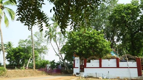 Panning shot - Hindu Temple Exterior Live Action