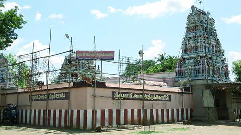 Exterior Shot Hindu temple, South India (2) Footage