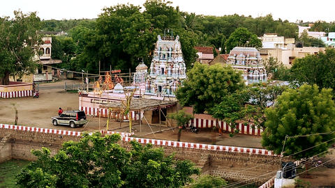 Exterior Traditional Hindu temple India, Nature Background Footage