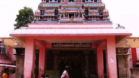 Exterior Traditional Hindu temple, South India (3) Footage