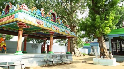 Panning shot Hindu Temple Exterior Footage