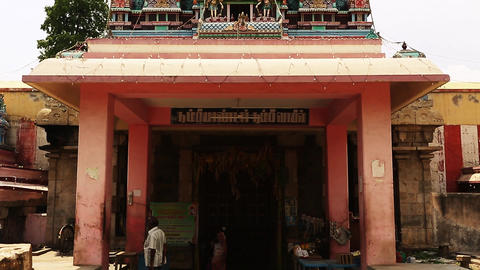 Exterior Shot Hindu temple, South India Footage