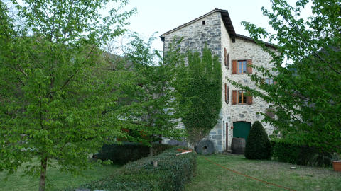 Old Chicon watermill, in Pavana, Italy Live Action