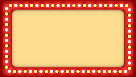 Flashing light bulbs red frame border screen sign casino background loop CG動画素材