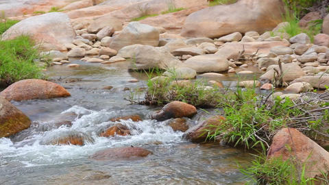 Tropical Mountain River Scene Footage High Definition Live Action