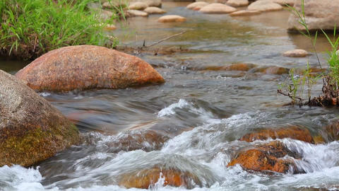 Tropical Mountain River Scene Footage High Definition Footage