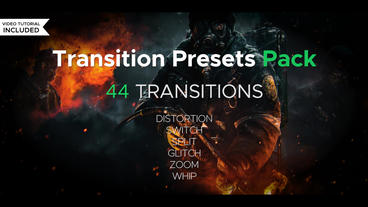 Transiton Presets Pack Premiere Proテンプレート