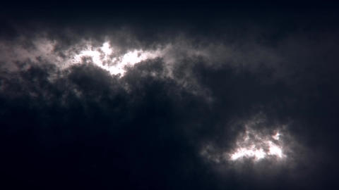 White Sci-Fi Sky Clouds Loopable Motion Graphic Background Animation